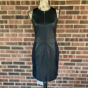 DKNY leather bodycon dress size 4